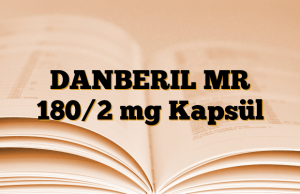 DANBERIL MR 180/2 mg Kapsül