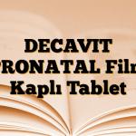 DECAVIT PRONATAL Film Kaplı Tablet