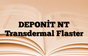 DEPONİT NT Transdermal Flaster