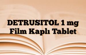 DETRUSITOL 1 mg Film Kaplı Tablet