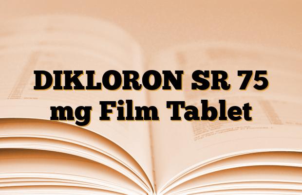 DIKLORON SR 75 mg Film Tablet
