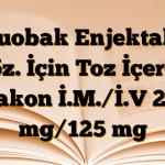 Duobak Enjektabl Çöz. İçin Toz İçeren Flakon İ.M./İ.V 250 mg/125 mg