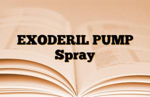 EXODERIL PUMP Spray