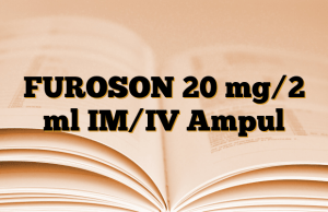 FUROSON 20 mg/2 ml IM/IV Ampul