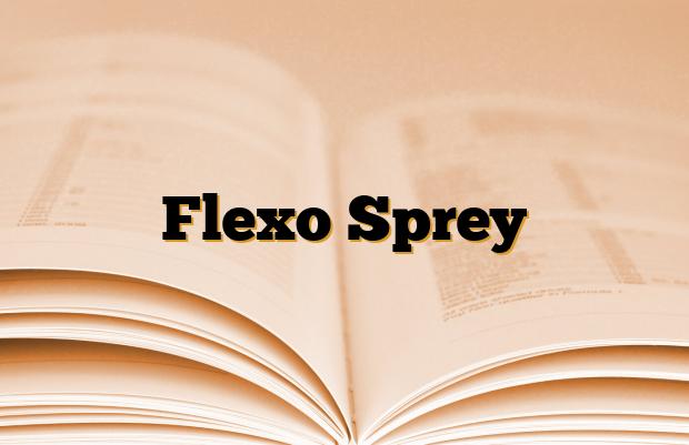 Flexo Sprey