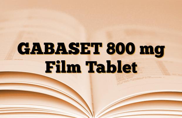GABASET 800 mg Film Tablet
