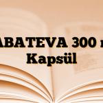 GABATEVA 300 mg Kapsül