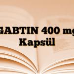 GABTIN 400 mg Kapsül