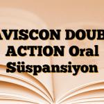 GAVISCON DOUBLE ACTION Oral Süspansiyon