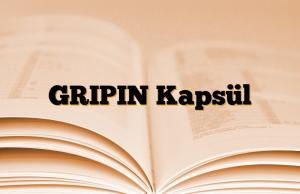 GRIPIN Kapsül