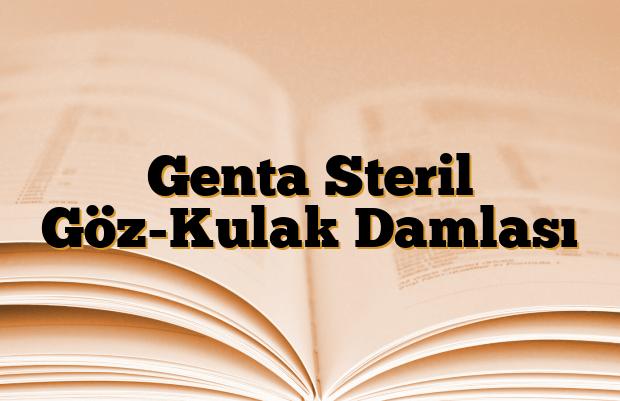 Genta Steril Göz-Kulak Damlası