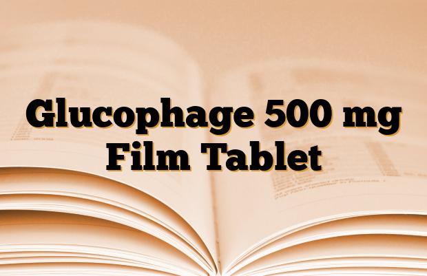 Glucophage 500 mg Film Tablet