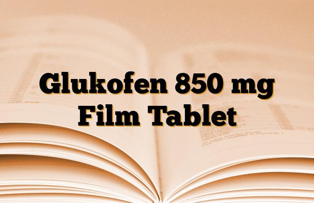 Glukofen 850 mg Film Tablet