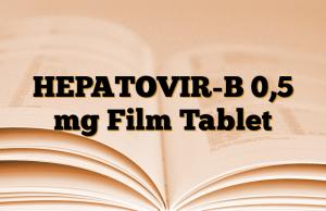 HEPATOVIR-B 0,5 mg Film Tablet