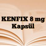 KENFIX 8 mg Kapsül