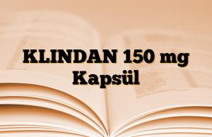 KLINDAN 150 mg Kapsül