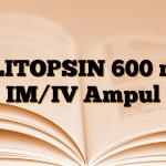 KLITOPSIN 600 mg IM/IV Ampul
