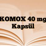 KOMOX 40 mg Kapsül