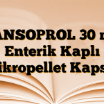 LANSOPROL 30 mg Enterik Kaplı Mikropellet Kapsül