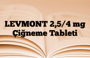 LEVMONT 2,5/4 mg Çiğneme Tableti
