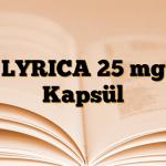 LYRICA 25 mg Kapsül