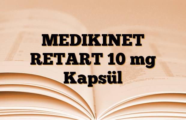MEDIKINET RETART 10 mg Kapsül