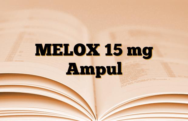 MELOX 15 mg Ampul