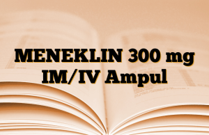 MENEKLIN 300 mg IM/IV Ampul