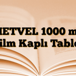 METVEL 1000 mg Film Kaplı Tablet
