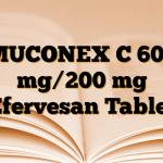 MUCONEX C 600 mg/200 mg Efervesan Tablet
