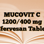 MUCOVIT C 1200/400 mg Efervesan Tablet