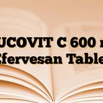 MUCOVIT C 600 mg Efervesan Tablet