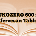 MUKOZERO 600 mg Efervesan Tablet