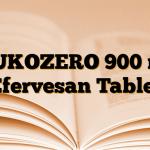MUKOZERO 900 mg Efervesan Tablet