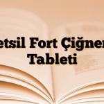 Metsil Fort Çiğneme Tableti
