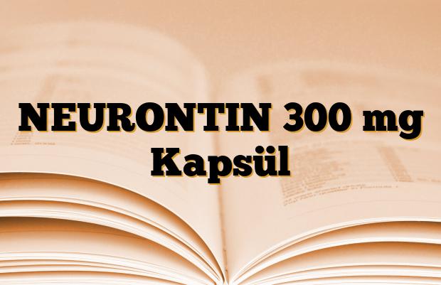 NEURONTIN 300 mg Kapsül