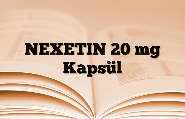 NEXETIN 20 mg Kapsül