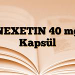 NEXETIN 40 mg Kapsül