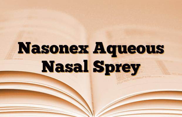 Nasonex Aqueous Nasal Sprey