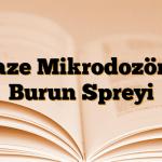Naze Mikrodozörlü Burun Spreyi