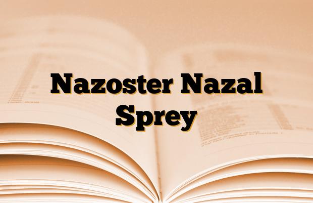 Nazoster Nazal Sprey