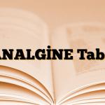 PANALGİNE Tablet
