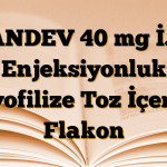 PANDEV 40 mg İ.V. Enjeksiyonluk Liyofilize Toz İçeren Flakon