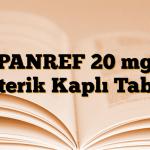 PANREF 20 mg Enterik Kaplı Tablet