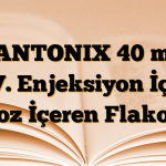 PANTONIX 40 mg İ.V. Enjeksiyon İçin Toz İçeren Flakon