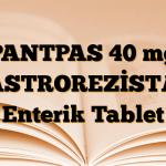 PANTPAS 40 mg GASTROREZİSTAN Enterik Tablet