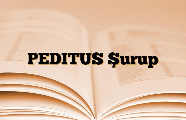 PEDITUS Şurup