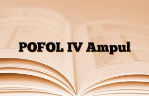 POFOL IV Ampul