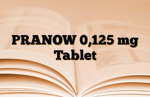 PRANOW 0,125 mg Tablet