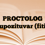 PROCTOLOG Supozituvar (fitil)